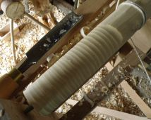Cannibal fork in birch (billet on the pole lathe), February 2014