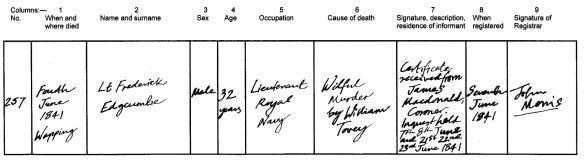 Edgcumbe death certificate