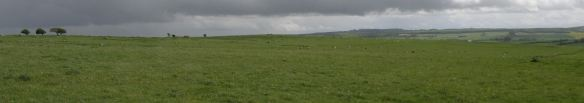 The view to the east from the Ridgeway, over Overton Down.