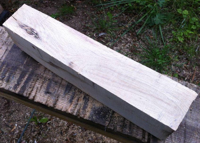[1] Freshly sawn - look at that wavy grain.