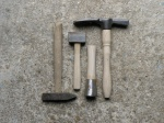 Mason's hammer, mallets and axe