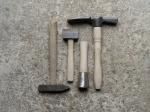 Mason's hammer, mallets and axe
