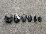 Pecking stones