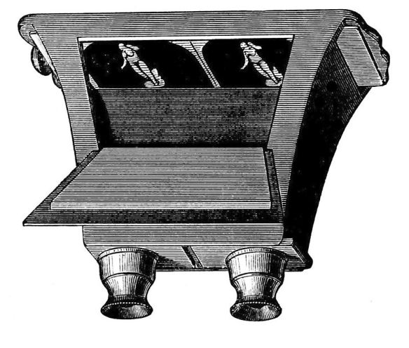 Brewster's stereoscope: slide a stereo pair of images into the back and look through the binoculars to see a 3D image (image via wikimedia commons).