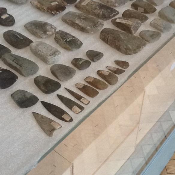 tiny stone axe heads