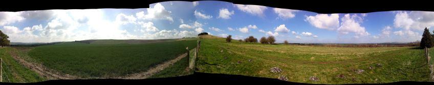 Burderop Down panorama