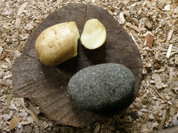 knapping a potato