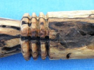 A cannibal fork made of spalted wood.